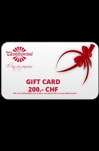 Gift Card 200.- CHF -  - -