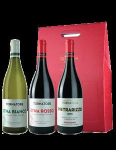 Etna Bianco, Etna Rosso, Pietrarizzo rosso - Confezione regalo 83 - Tornatore - 75 cl
