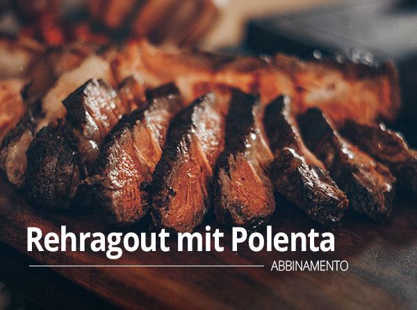 Rehragout mit Polenta